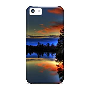 Back Cases Covers For Iphone 5c - Paulk Lake Sunset