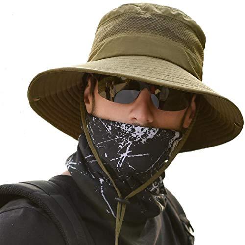 anaoo Chapeau Homme, Chapeau de Soleil, Chapeau Eté Pliable, Casquettes Visières Anti-UV, Séchage Rapide et Protection… 1