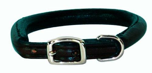 Hamilton 1/2″ x 16″ Black Rolled Leather Dog Collar, My Pet Supplies