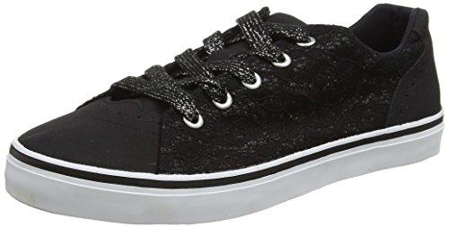 Sneaker Nero Evans Extra Glitter Wide Donna Black 01 Lace ZBBIz46Wq