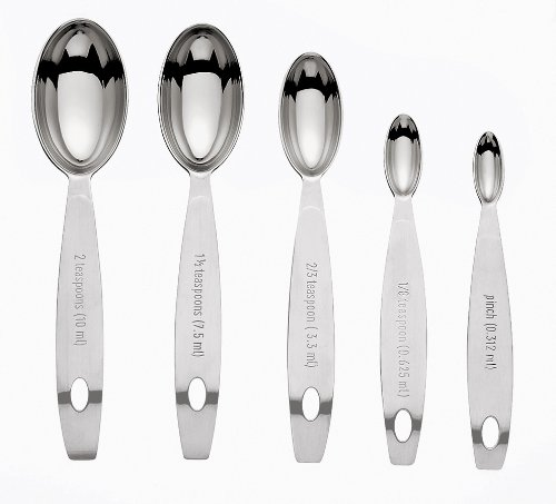 Cuisipro Stainless Steel Measuring Spoon Set, Odd Sizes (Cuisipro Spoons Steel Stainless Measuring)