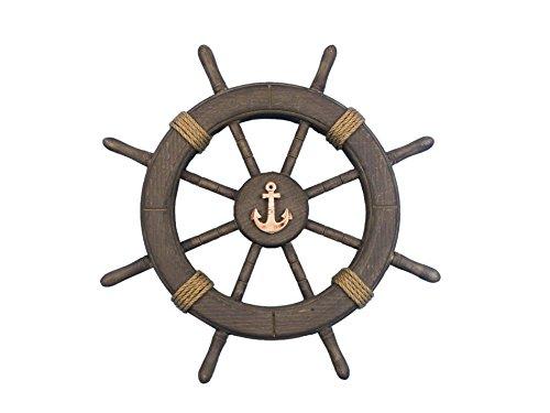 Ships Antique Wheel (Antique Decorative Ship Wheel With Anchor 18