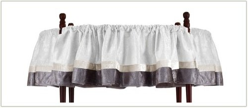 Baby Doll Bedding Round Crib Canopy Valance, White, 4 Piece by BabyDoll Bedding