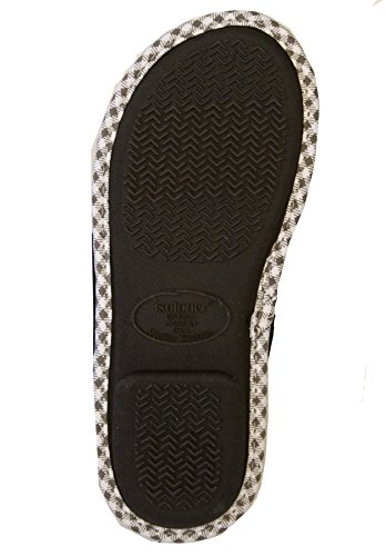 Microterry Slipper 7 Isotoner 8 Women's Thong Black Olivia 5 AawZPZCq