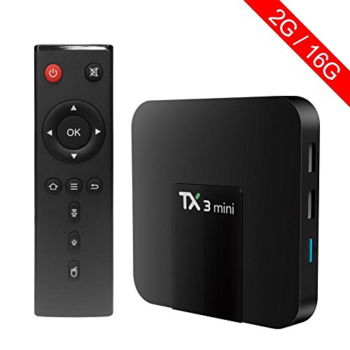 TX3 Mini Smart TV Box Amlogic S905W Quad Core Android 7.1 2G RAM 16G ROM 4K Ultra HD WiFi 2017 Smart Tv Box (2GB+16GB) by rCJtech