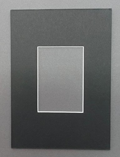 Pack of 10 5x7 Black Picture Mats with White Core Bevel Cut for 2.5 X 3.5 ACEO or Sport Card