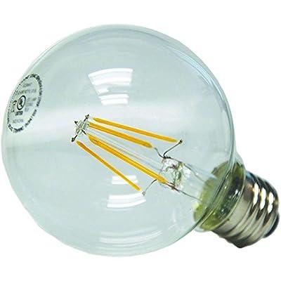EcoSmart 40W Equivalent Soft White G25 LED Light Bulb Medium Base Vintage Style Filament