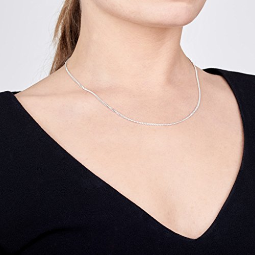 Amberta 925 Sterling Silver 2 mm Curb Chain Necklace Length 20'' inch / 50 cm (20) by Amberta (Image #1)