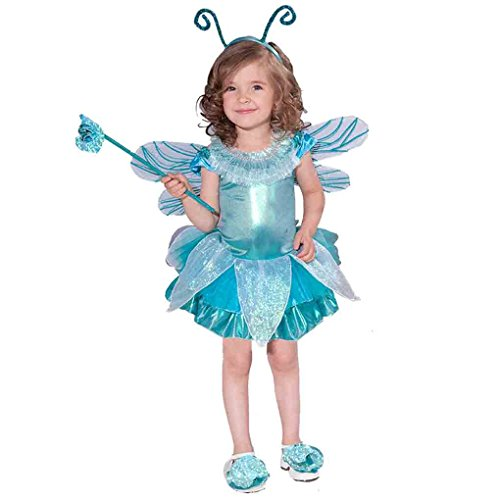 [Girl's Blue Dragonfly Costume (1-2)] (Fly Costumes)