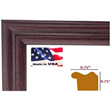 13x19 Cherry Maroon .75 inch wide Wrapped Wood Picture Poster Frame