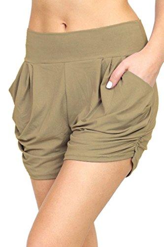 Premium+Ultra+Soft+Harem+Shorts+-+Pockets+-+15+Trending+Prints+by+Conceited+%28Large%2FX-Large%2C+Mocha%29