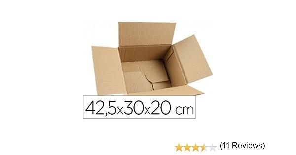 Q-Connect - Caja Para Embalar Fondo Automático Medidas 425X300X200 Mm Espesor Cartón 3 Mm: Amazon.es: Oficina y papelería