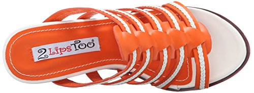 2 Too Lips Too Women Wedge Orange Sandal Umbre rwrFHAq