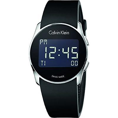 New Mens Calvin Klein Future Digital Alarm 38mm Swiss Quartz Watch K5B23TD1