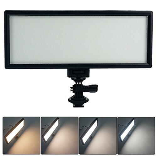 VILTROX L132T 0.78'/2cm Ultra Thin CRI95 5600K/3300K LED Video Light Dimmable Flat Panel On-camera Light Pad for Canon Nikon Pentax Olympus Samsung Panasonic DSLR Cameras DV Camcorders