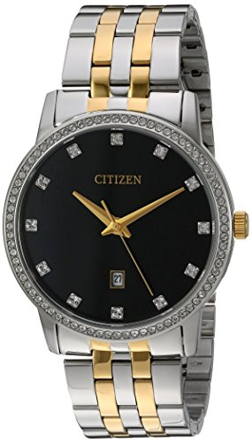 Citizen Men's Quartz Stainless Steel Watch with Crystal Accents, BI5034-51E ()