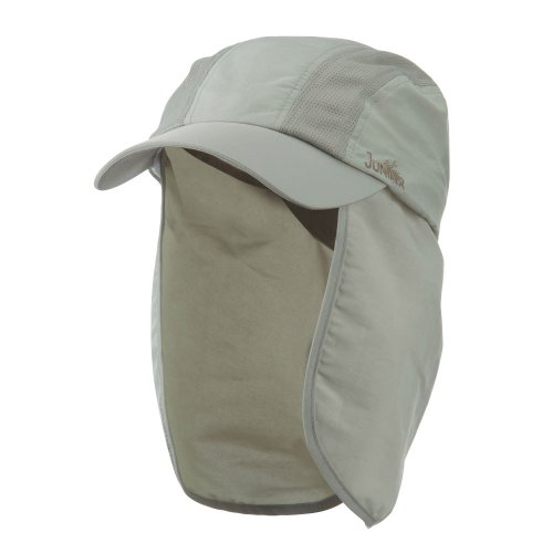 UV 50+ Talson Cap with Detachable Flap - Khaki - Nylon Flap E4hats Hat
