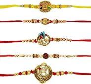Alooatta Rakhi Bracelet for Brothers, Kids - Raksha Bandhan Gift with Cotton Beaded Rakhi, Raksha Bandhan card