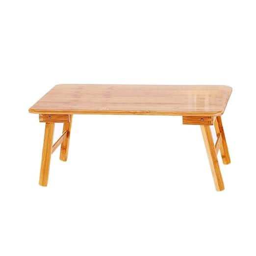 Mesa para Ordenador Plegable portátil de bambú del ordenador ...