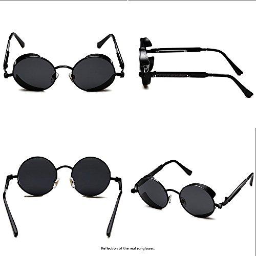 6b1fc29cd9 ROCKNIGHT Gothic Steampunk Polarized Sunglasses For Men Women UV Protection Metal  Frame
