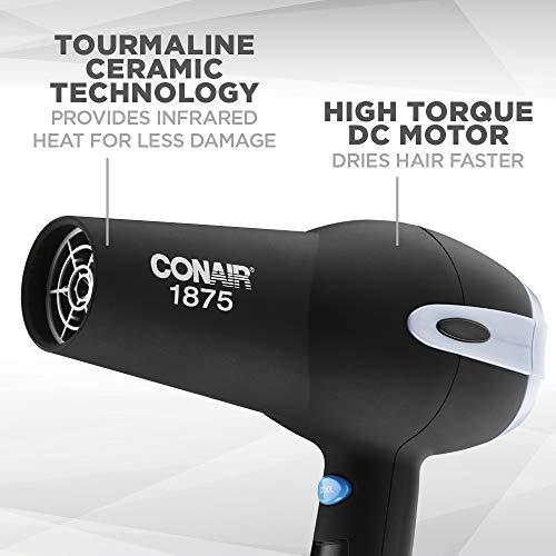 Conair 1875 Watt Ionic Ceramic Hair Dryer, Black