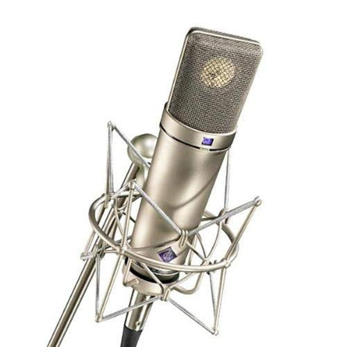 Neumann Microphone Set, Includes U 87 Ai Microphone, EA 87 Shock Mount, WS 87 Windscreen, IC 3/25 Cable, Wooden Jeweler's Case, Nickel ()