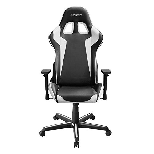 41wsI3Z42NL - DXRacer OH/FH00/NW Black & White Formula Series Gaming Chair High-back Ergonomic Home Office Adjustable Swivel Racing eSports Computer Chair with Lumbar Cushion and Headrest Pillow