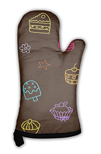 Gear New Oven Mitt, Pattern With Candies And Sweets Endless For Wallpaper Fill Web Page Surface, GN17598