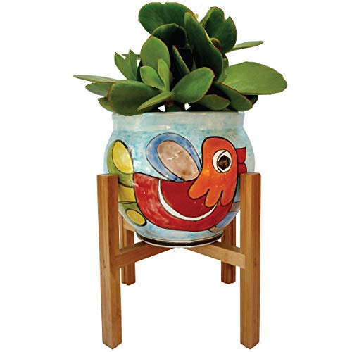 Plant Stand Pot Holders | Indoor Flower Pot Decor | Rustic Home Pot Holder | Large Size Century Wood Flower Pots | (Plant and Pot NOT Included) Home Rustic Decor | Up to 10 Inch - 26cm Pot Planter