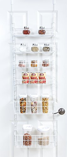 PROMART DAZZ Deluxe Over The Door Adjustable Pantry Organizer Rack, 6 Shelves, Large