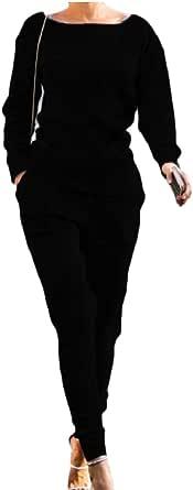 omniscient Women Jogger Outfit Long Sleeve Sweatshirt Sweatpants 2 Piece Sets