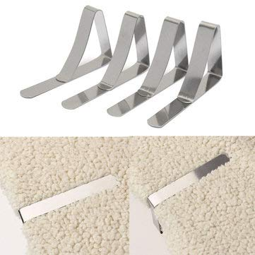 4X Stainless Steel Tablecloth Tables Cover Clip Holder Cloth Clamps Picnic