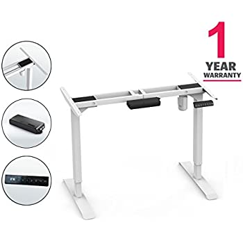Amazon Com Vivo Electric Stand Up Desk Frame W Dual Motor