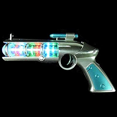blinkee Light Up Spinning Barrel Space Gun by: Toys & Games