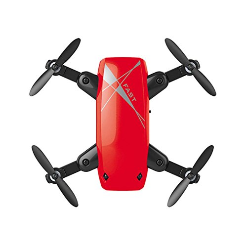 Fineser S9HW RC Drone with 0.3MP HD Camera 2.4GHz 6-Axis Gyro Foldable Quadcopter for Kids & Beginners - Altitude Hold, One Key Start, Foldable Arms (Red) by Fineser