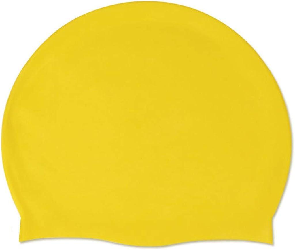 Adult Swimming Hat Durable Female Male Elastic Silicone Pool Beach Swim Head Cap Summer