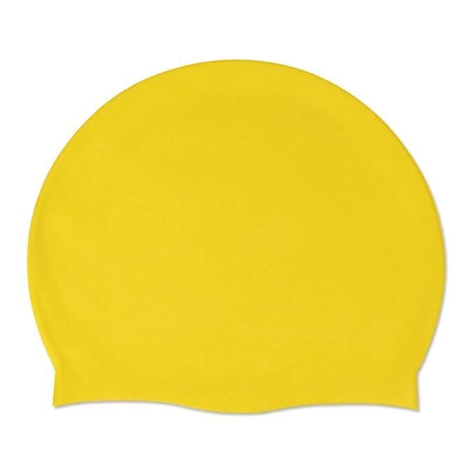 Mymyguoe Gorro de baño Impermeable Sombrero de natación Adulto Duradero elástico de Silicona Piscina de Playa Cabeza de natación Gorra Verano Tapa de ...