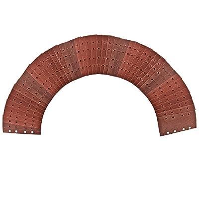 Velcro 1/3 Sheet Sanding Sander Sandpaper Pads 50 Pack Mixed Grit 40 - 120