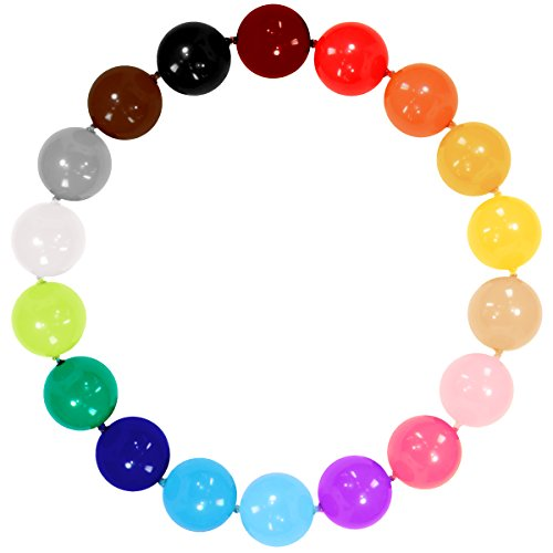 50 PC 6 inch Assorted color Linkable Balloon for Party decoration, and garland (Small White Balloons)