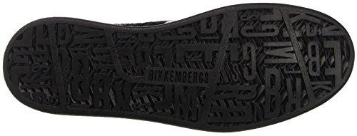 BIKKEMBERGS Damen Bounce 728 Low Boot W Glitter/Leather Pumps Schwarz