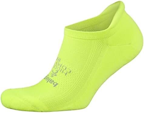 Balega Hidden Comfort Athletic No Show Running Socks for Men and Women with Seamless Toe, (Medium) - Zest Lemon