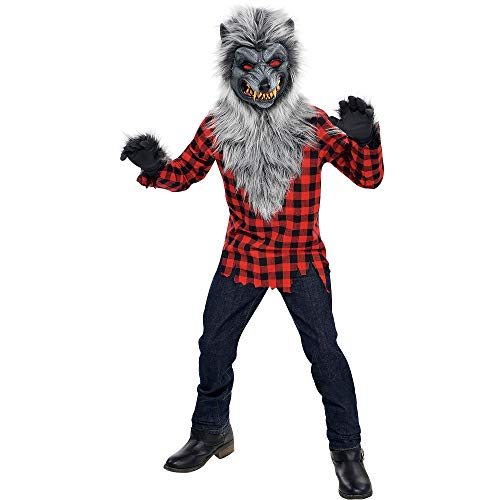 AMSCAN Hungry Howler Werewolf Halloween Costume for Boys, Large, with Included Accessories -