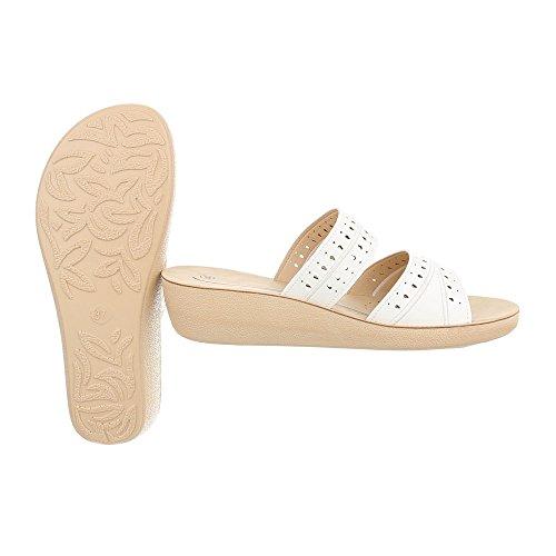 Plano Vestir Zapatos Ital Para Sandalias Blanco Design de Zuecos Mujer x0TTqYpw