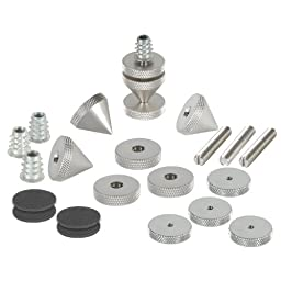 Dayton Audio DSS6-SN Satin Nickel Speaker Spike Set 4 Pcs.