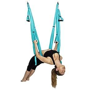 Aerial Yoga Hammock Household Yoga Micro Elastic Strap Sling Yoga Stretch Band (Color : A)