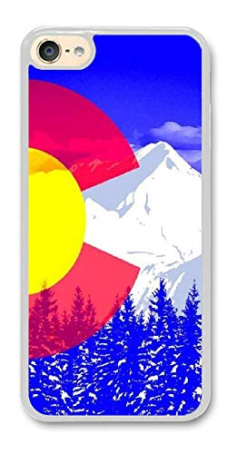 Colorado Rockies Ipod Case - Custom iPod Touch 6 Cases - Colorado Flag of The Rocky Mountains Hard Plastic Phone Cell Case for iPod Touch 6