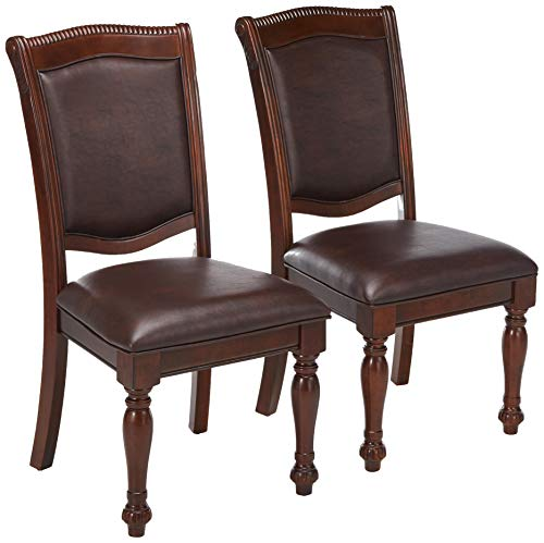 247SHOPATHOME IDF-3350SC Dining-Chairs, Brown Cherry