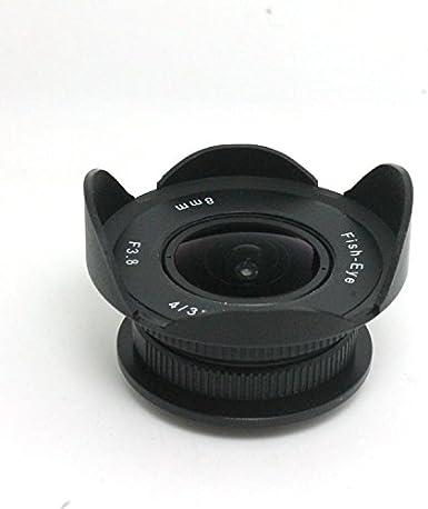 Needs Extra Slim C-Mount Adapter FOTOMIX 8mm F3.8 Fish-Eye CCTV Lens for C Mount Camera for Sony NEX//Fujifilm FX//Nikon 1 Canon EOS M