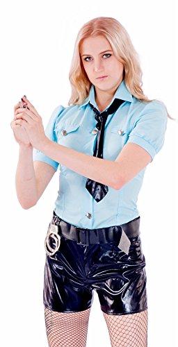 JUNPAI Women's Role Costume Hot Cop Including Tie,Shirt,Belts, Shorts (Hot Cop Costumes)