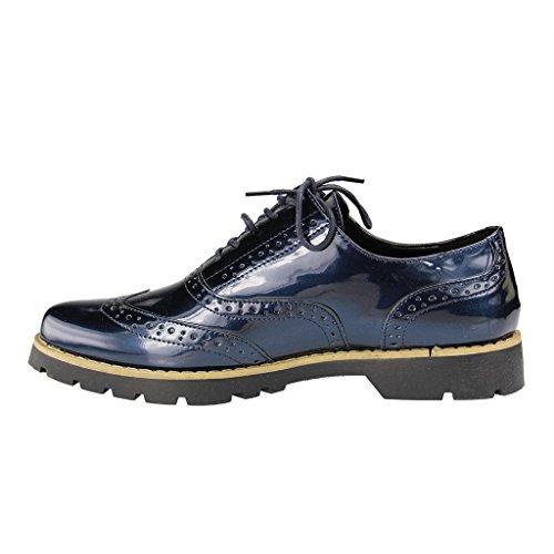 Para Cordones De Zapatos Sintético Fitters Footwear Material Azul Mujer xqB7O1Znw